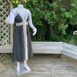 Slate Grey with soft grey party dress